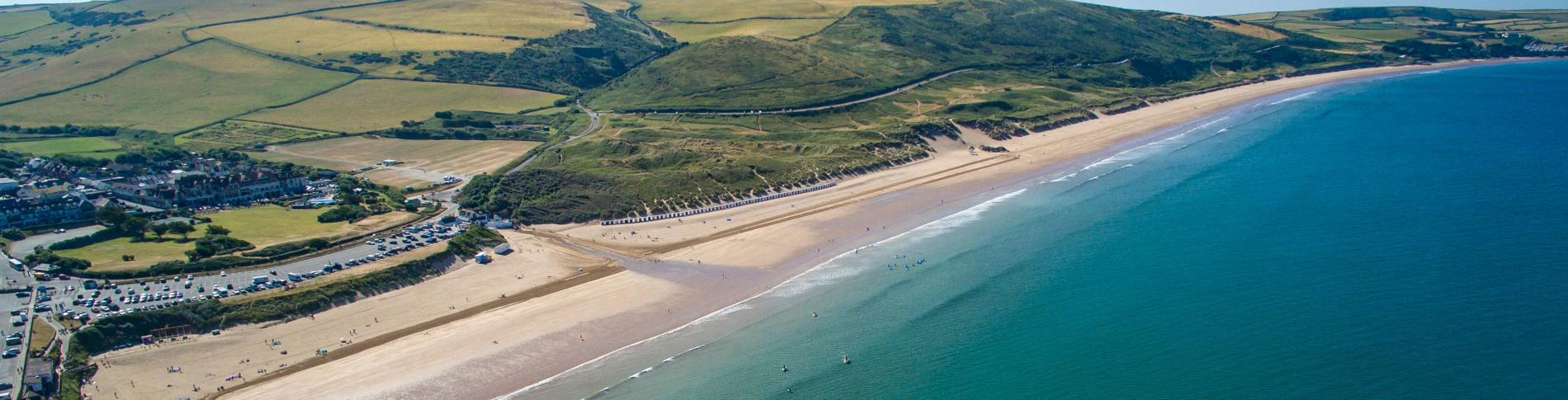 Woolacombe Beach from the air