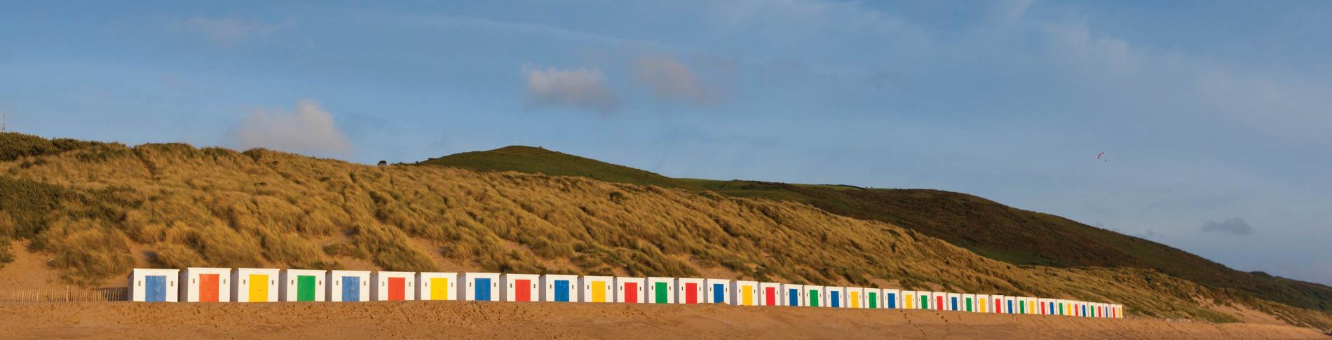 Parkin Estate Beach Huts Woolacombe Beach North Devon