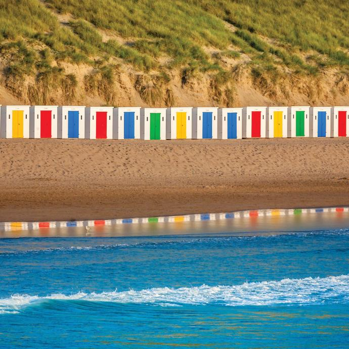 Parkin Estates Beach Huts at Woolacombe Beach North Devon