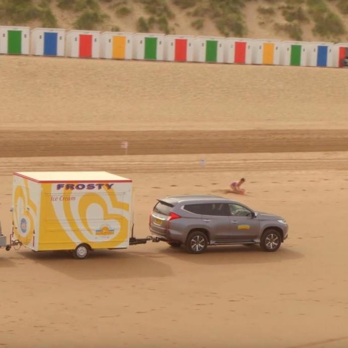 Parkin Estates Ice Cream Van on Woolacombe Beach Devon